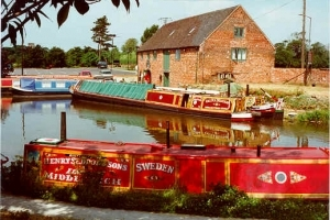Shardlow Canal heritage centre on the East Midlands canal holiday ring.